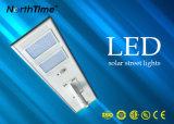 Lumière solaire chargeant le réverbère extérieur de route du contrôle de détecteur DEL