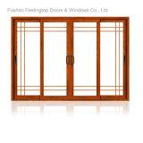 Продолжаемая дверь обеспеченностью профиля двойной застеклять конструкции алюминиевая (FT-D80)