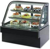 de Koeler van de Showcase van de Cake van het Glas van de Kromme van 1.2m met Ce