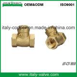 Qualidade da válvula de retenção de abertura e fechamento de latão forjado (AV-CV-5010)