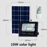 IP67 impermeabilizzano l'indicatore luminoso di inondazione solare ricaricabile esterno di 10W LED