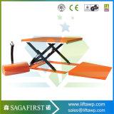 1ton table élévatrice stationnaire hydraulique de palette de forme du profil bas U