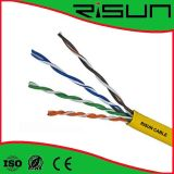 Gelbe U/UTP Cat5e Umhüllung des Ethernet-Kabel-LSZH