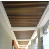 Plafond décoratif composé en plastique en bois du modèle WPC Eco de maison du plafond 40*25