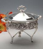 Großartiges Silber überzogener Nahrungsmittelwärmer (AG53252DM)