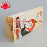 로고 밑바닥 정연한 커피 포장 부대를 인쇄하는 견본