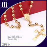 de Stevige Parels Gouden Jesus Necklace van 6mm