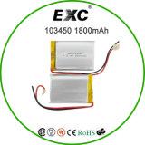103450 Battery ricaricabile Lipo 3.7V 1800mAh