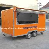 Carrinho de alimentar móvel Mobile quiosque de Caminhão Alimentar Van Trailer de venda