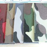 Couro artificial de Yangbuck camuflar para o material das sapatas (SHT014)