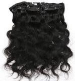 Верхний класс прибора Clip в волосы добавочный номер 100% нового человеческого волоса продление Lbh 107
