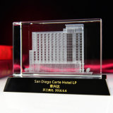 пресс-папье кубика кристаллический стекла лазера 3D архитектурноакустическое модельное