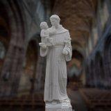 Scultura religiosa della statua, statua di marmo della st Anthony