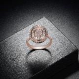 Boucle d'or faite sur commande de la CZ Rose de bijou de rapport de mode
