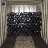 Großhandelsschwarzes pp. gesponnenes flaches Gewebe 90GSM in Rolls