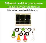 9W sistema ligero solar portable del kit de la energía LED para el hogar