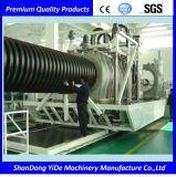 Cadena de producción plástica del tubo del drenaje del HDPE y del agua de Fotable