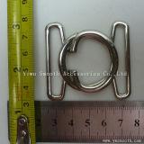 La moda conjunta de dos piezas de aleación de metal plateado de la correa de hebilla de enclavamiento