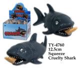 Juguete divertido del tiburón de la crueldad del apretón