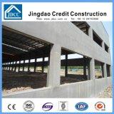 Edificio de la fábrica de acero de la estructura con los paneles del compuesto del cemento