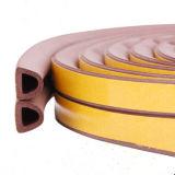 Tira adesiva do selo da borracha de espuma da D-Forma EPDM para a porta de madeira