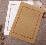 Traditionelles rotes Zeilendruck-Zeichen-Umschlag