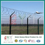 Rete fissa della maglia ricoperta PVC di obbligazione di aeroporto del reticolato di saldatura da vendere