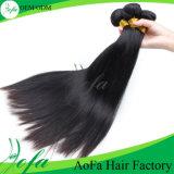 100%の加工されていなくまっすぐなブラジルの毛の人間のバージンの毛