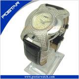 a+の品質のIrregualr整形ステンレス鋼の腕時計の本革バンドPsd-2785