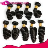 バージンのインドのRemyの大きい卸し売り毛の緩い波の毛の拡張