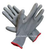 Трикотажные нейлоновые рабочие перчатки PU покрытием защитные перчатки