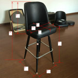 Black Faux Leather Salon Club Dining High Bar Chair (FS-T6059)