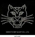 이동 주제 패치에 도매 새끼 고양이 디자인 로고 모조 다이아몬드 철