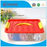 Bunter transparenter Plastikablagekasten-Plastikvorratsbehälter für Haushalt Produts