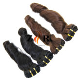 2017高品質100%のインド人のバージンの人間の毛髪のよこ糸