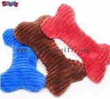 100%Polyester het materiële Zachte Stuk speelgoed van het Been van de Pluche Roze met Squeaker BOSW1076/22CM