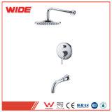 Mélangeur de douche de soupape d'équilibre de pression d'UPC dans le taraud de douche de baignoire de mur avec l'aiguillage