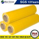 Strato del PE di colore di colore giallo di uso della mano per l'imballaggio del pallet