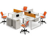 Cross Design Office Furniture Cubicle Workstation with Mobile Pedestal (HF-BSD003)