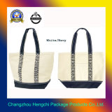 2015 novo saco de lona branca/Navy Saco de lona