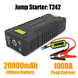 20000 mAh 1000А Пиковая мощность автомобильного зарядного устройства в чрезвычайных ситуациях банка перейти стартер