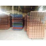 Los materiales de construcción mosaico de metal de aluminio galvanizado arena color teja