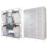 De moderne Eenvoudige Stof die van het Huishouden van de Garderobe de Eenvoudige Garderobe vouwen van de Combinatie van de Versterking van de Grootte van de Koning van de Assemblage van de Opslag van de Afdeling van de Doek (fw-34C)