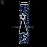 Árbol de Navidad Motivo de la calle polo de luz LED iluminado árbol de Navidad