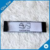Étiquette tissée par densité personnalisée du prix de gros d'usine pour le vêtement
