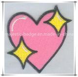 Parche bordado rosa de la estrella personalizada