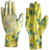 13G букет цветов с PU покрытием женщин сад перчатки