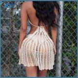 Трикотажные спицы платье линии бикини крышку вверх на пляжную