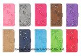 Caja del teléfono móvil de la carpeta de las mujeres del diamante para el iPhone, Huawei, Samsung