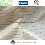 Fornitore del tessuto del rivestimento del manicotto del vestito degli uomini in bianco e nero del poliestere